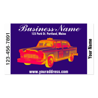 Arte pop del taxi del taxi del inspector tarjeta de visita