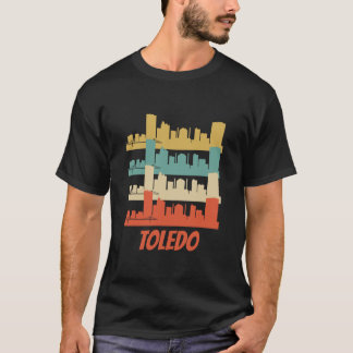 Arte pop retro del horizonte de Toledo OH Camiseta