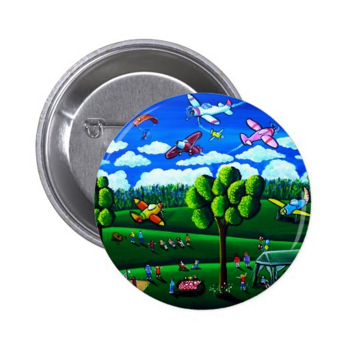 Arte popular caprichoso del color de los aeroplano pins