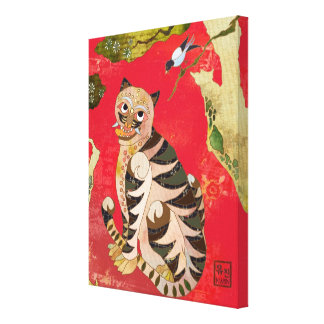 Arte popular coreano de la urraca y del tigre