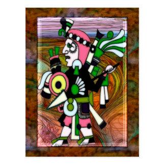 Arte popular del inca tradicional postal