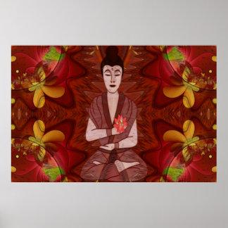 Arte popular espiritual de la nueva edad de la impresiones