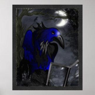 Arte popular gótico de la historia de un cuervo poster