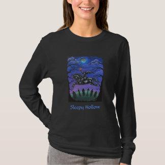 Arte popular hueco soñoliento camiseta