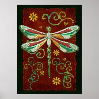 Arte popular Jeweled elegante 2 de la libélula