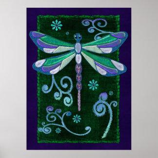 Arte popular Jeweled elegante de la libélula Impresiones
