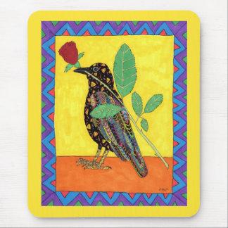 Arte popular mexicano del cuervo de Oaxacan y del Alfombrilla De Ratón