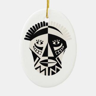 Arte popular primitivo de la máscara africana ornamentos de reyes magos