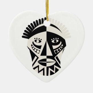 Arte popular primitivo de la máscara africana ornamentos de navidad