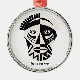 Arte popular primitivo de la máscara africana ornamento para reyes magos