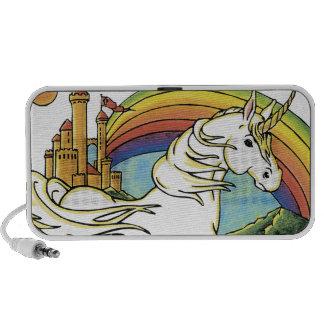 arte precioso de la fantasía del unicornio iPod altavoces