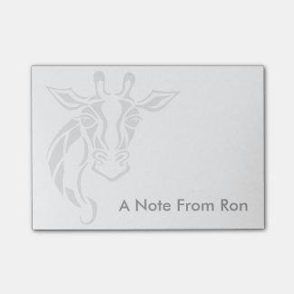 Arte principal del tatuaje de la jirafa notas post-it®