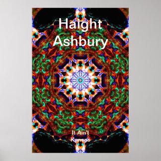 Arte psicodélico de la moda del Hippie de Haight A Impresiones