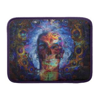 Arte psychodelic del cráneo funda para MacBook