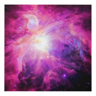 Arte púrpura de la pared del panel de la galaxia cuadro