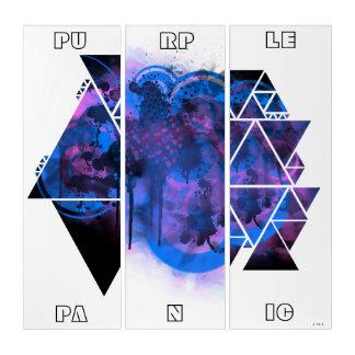 Arte púrpura de la pared del pánico de la edición