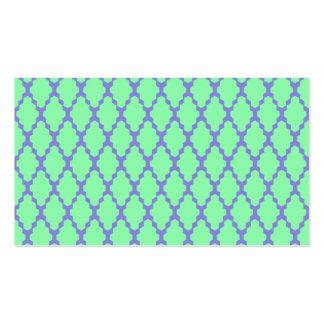 Arte púrpura del modelo del trullo a cuadros tarjetas de visita