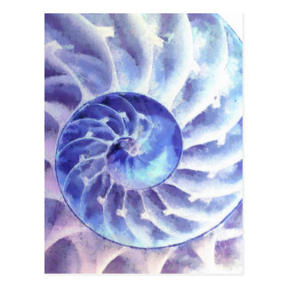 Arte púrpura del nautilus postal