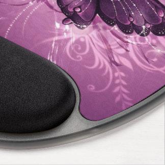 arte púrpura del vector de la mariposa alfombrilla gel