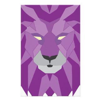 arte púrpura del vektor del león  papeleria de diseño