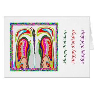 Arte que hace estallar del ojo - par íntimo de tarjeta de felicitación