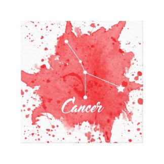 Arte rojo de la pared del cáncer