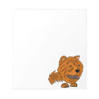 Arte rojo divertido del perro del perro chino de bloc de notas