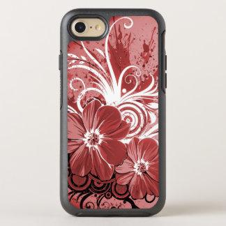 Arte rojo hermoso del vectror del extracto del funda OtterBox symmetry para iPhone 8/7