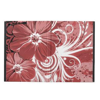 Arte rojo hermoso del vectror del extracto del funda para iPad air