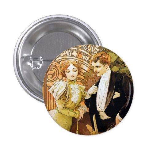 Arte romántico Nouveau del vintage del ligón de Pins