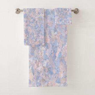 Arte rosa claro y azul de las palomitas 4647