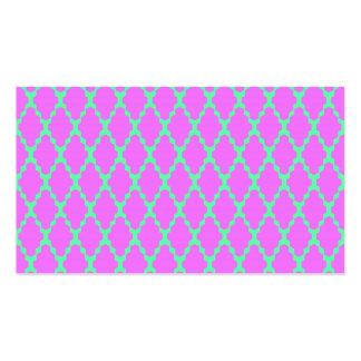 Arte rosado a cuadros geométrico de moda del plantilla de tarjeta personal