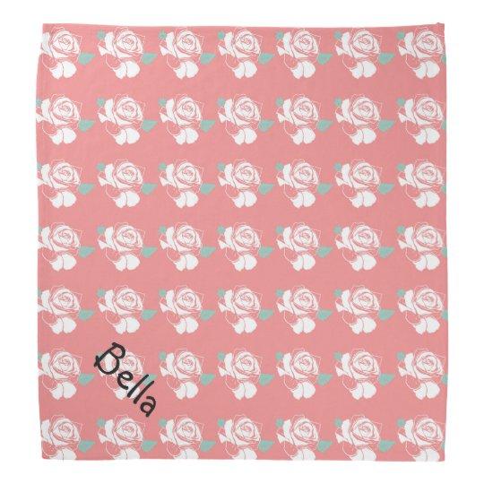 Arte rosado blanco Petwear de la menta del modelo Bandana