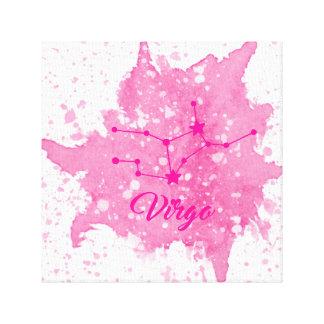 Arte rosado de la pared del virgo