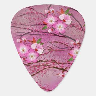 Arte rosado de Origami de la flor de cerezo Uñeta De Guitarra