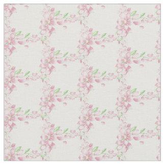 Arte rosado suave bonito de la acuarela de la flor telas