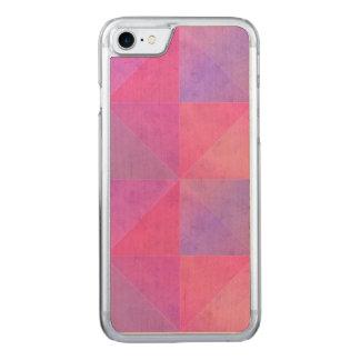 Arte rosado y púrpura de la acuarela de los funda para iPhone 7