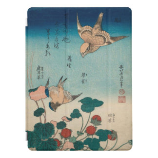 Arte Shrike del vintage de Hokusai y Bluebird Cubierta Para iPad Pro