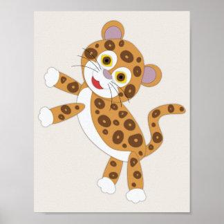 Póster Arte simple del cuarto de niños de Jaguar