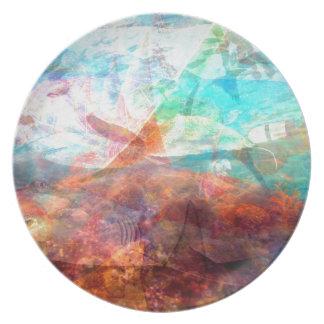 Arte subacuático inspirador hermoso de la escena plato