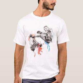 Arte tailandés/pintura del boxeo camiseta