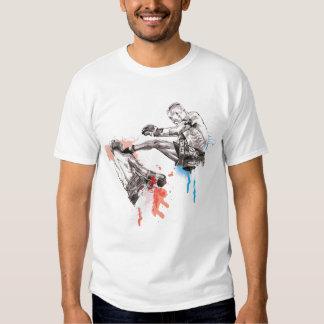 Arte tailandés/pintura del boxeo camisetas