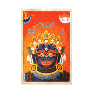 Arte tibetano oriental fresco del tatuaje de Bhair Impresiones De Lienzo