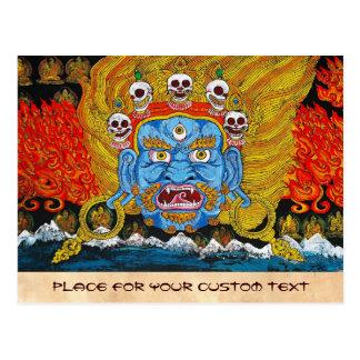 Arte tibetano oriental fresco del tatuaje del demo postal