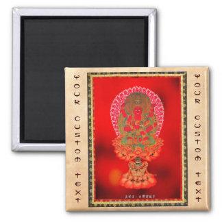 Arte tibetano oriental fresco Ragaraja del tatuaje Imán Cuadrado
