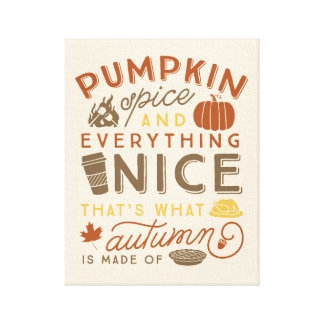 Arte tipográfico del otoño de la especia de la lienzo