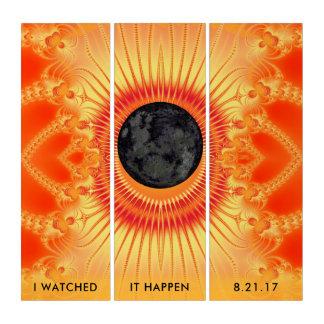 Arte total del fractal del eclipse solar