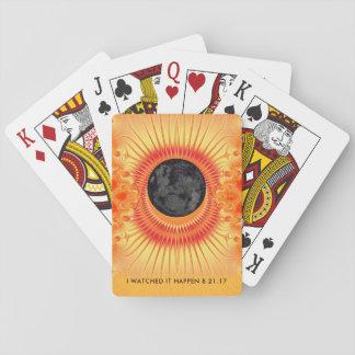 Arte total del fractal del eclipse solar baraja de cartas