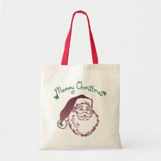 Arte tradicional del navidad del padre bolsa lienzo
