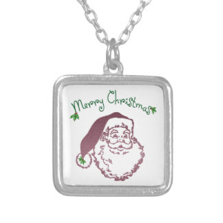 Arte tradicional del navidad del padre collar personalizado